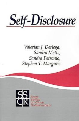 Self-Disclosure by Valerian J. Derlega
