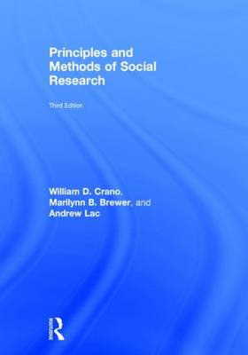 Principles and Methods of Social Research by William D. Crano