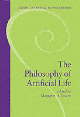 Philosophy of Artificial Life book