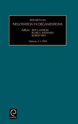 Research on Negotiation in Organizations by Roy J. Lewicki