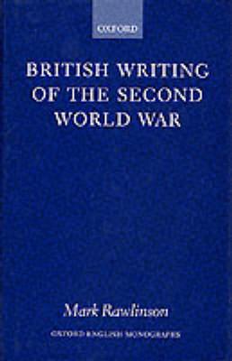 British Writing of the Second World War book