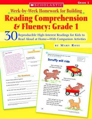 Week-By-Week Homework for Building Reading Comprehension & Fluency: Grade 1 by Mary Rose