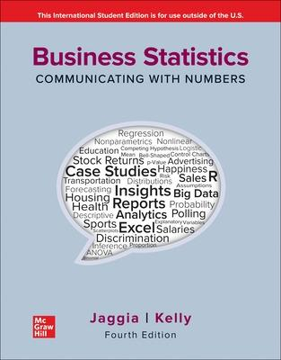 ISE Business Statistics: Communicating with Numbers book