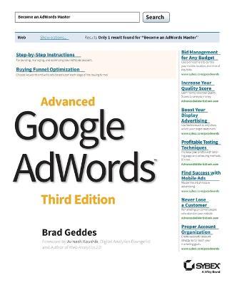 Advanced Google AdWords by Brad Geddes