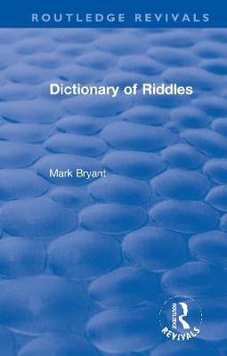 Dictionary of Riddles book