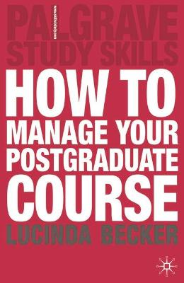 How to Manage your Postgraduate Course book