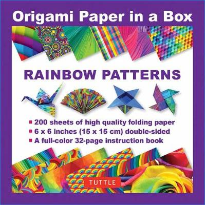Origami Paper in a Box - Rainbow Patterns book