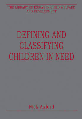Defining and Classifying Children in Need book