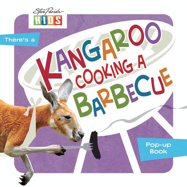 Kangaroo Cooking a Barbecue book