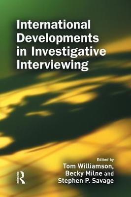 International Developments in Investigative Interviewing book