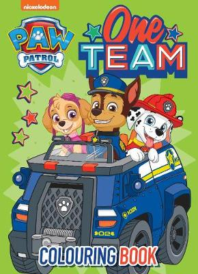 Paw Patrol One Team Colouring Book by