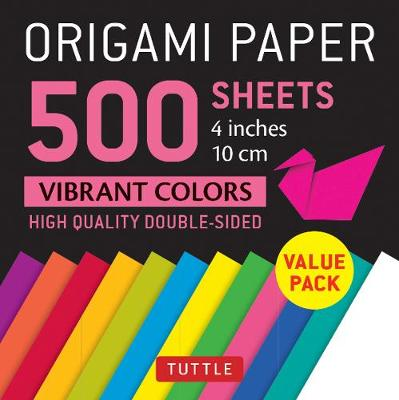 Origami Paper 500 sheets Vibrant Colors 4 (10 cm) by Tuttle