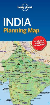 Lonely Planet India Planning Map book