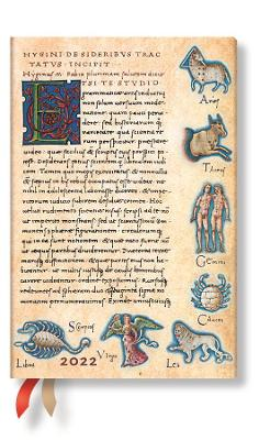 2022 Astronomica, Mini, (Day at a Time) Diary: Hardcover, 80 gsm, Day to a Page Layout (except Sat/Sun), elastic closure book