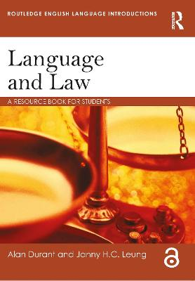 Language and Law by Alan Durant