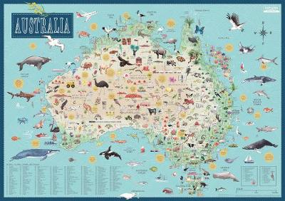 Australia: Illustrated Map by Tania McCartney