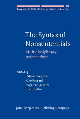 Syntax of Nonsententials by Ljiljana Progovac