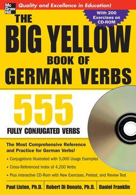 The Big Yellow Book of German Verbs (Book w/CD-ROM) by Paul Listen