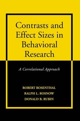 Contrasts and Effect Sizes in Behavioral Research by Donald B. Rubin