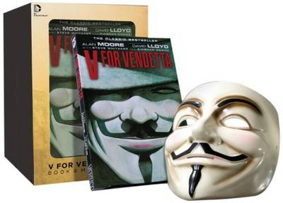 V For Vendetta Book and Mask Set by Alan Moore