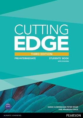 Cutting Edge 3rd Edition Pre-Intermediate Students Book for DVD Pack by Araminta Crace