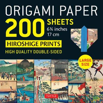 Origami Paper 200 sheets Japanese Hiroshige Prints 6.75 inch: Large Tuttle Origami Paper: High-Quality Double Sided Origami Sheets Printed with 12 Different Prints (Instructions for 6 Projects Included): Instructions for 6 Projects Included book