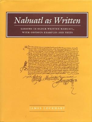 Nahuatl as Written book