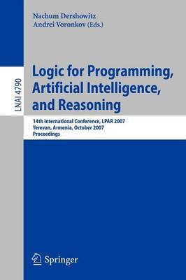 Logic for Programming, Artificial Intelligence, and Reasoning by Nachum Dershowitz