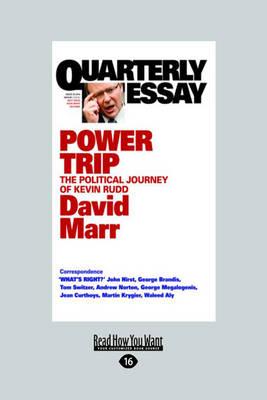 Quarterly Essay 38 by David Marr