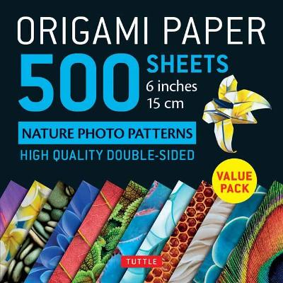 Origami Paper 500 sheets Nature Photo Patterns 6 (15 cm) by Tuttle