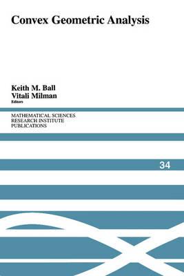 Convex Geometric Analysis by Keith Ball