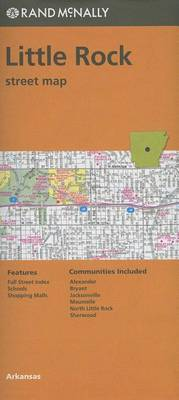 Folded Map Little Rock Streets, AR by Rand McNally