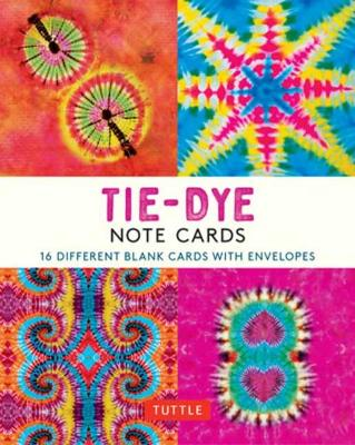 Tie-Dye, 16 Note Cards: 16 Different Blank Cards with 17 Patterned Envelopes book