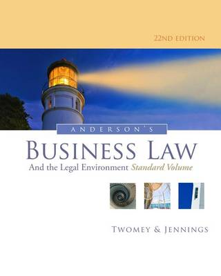 Anderson's Business Law and the Legal Environment, Standard Volume by Marianne Jennings