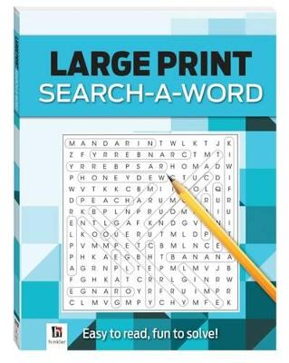 Search-a-Word 3 (blue) Large Print Puzzles Series 4 by
