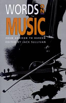 Words On Music by Jack Sullivan