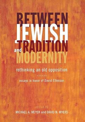 Between Jewish Tradition and Modernity by Michael Andrew Meyer