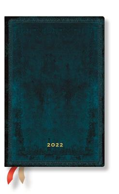 2022 Calypso Bold, Mini, (Day at a Time) Diary: Hardcover, 80 gsm, Day to a Page Layout (except Sat/Sun), elastic closure book