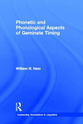 Phonetic and Phonological Aspects of Geminate Timing book