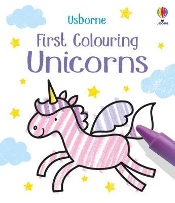 First Colouring Unicorns book