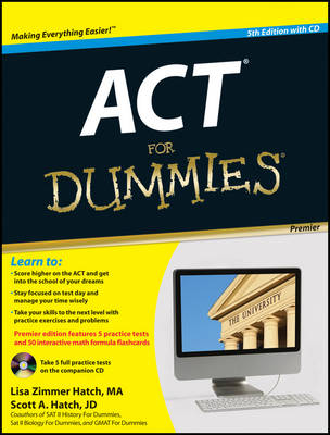 ACT For Dummies: with CD by Lisa Zimmer Hatch