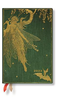 2022 Olive Fairy, Mini, (Day at a Time) Diary: Hardcover, 80 gsm, Day to a Page Layout (except Sat/Sun), elastic closure book