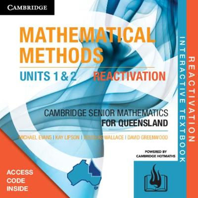 CSM QLD Mathematical Methods Units 1 and 2 Reactivation (Card) by Michael Evans
