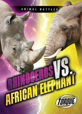 Rhinoceros VS African Elephant by Thomas K Adamson