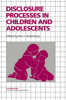 Disclosure Processes in Children and Adolescents book