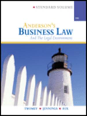 Anderson's Business Law and Legal Environment, Standard by Marianne Jennings