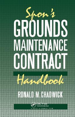 Spon's Grounds Maintenance Contract Handbook book