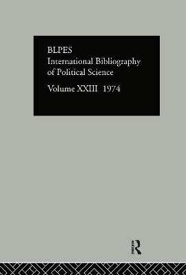 IBSS: Political Science  Volume 23 by International Committee for Social Science Information and Documentation