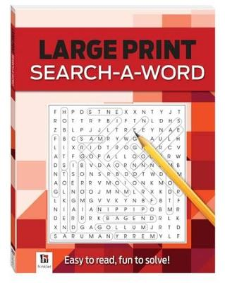Search-a-Word 2 (red) Large Print Puzzles Series 4 by