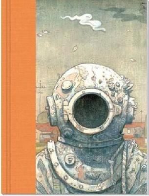 Luxury Blank Journal 3 Orange: Pearl Diver by Shaun Tan